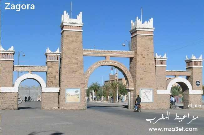 زاكورة في الصحراء المغربية.  ح